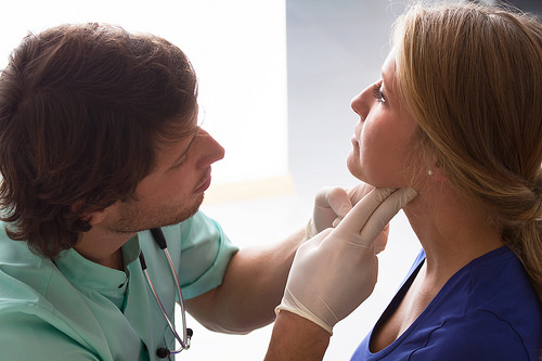Doc checking ear